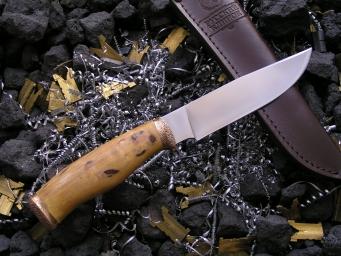 Нож НК-11 (Elmax, стаб.карельская береза, бронза)