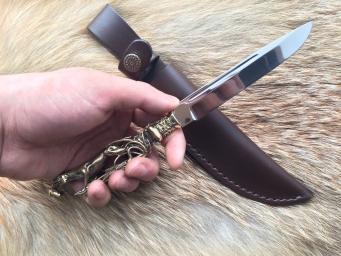 Нож Авторский (Elmax, авторская рукоять из латуни)