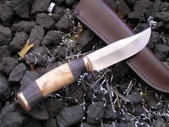 Нож Мичман (Булат, Сборная рукоять, Бронза)