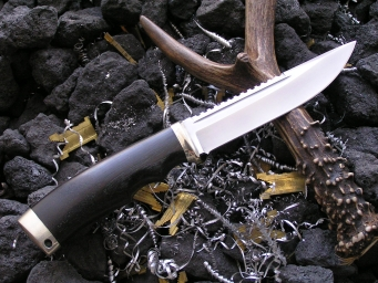 Нож Охотник (Elmax,граб, мельхиор)
