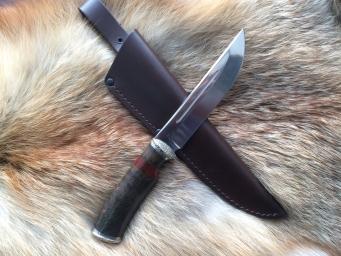 Нож Филин (М390, сборная рукоять, мельхиор)