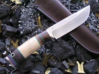 Нож РН-5 (М390, наборная рукоять, мельхиор)