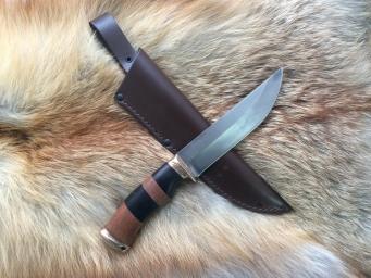 Нож Росомаха (Булат, Сборная рукоять, Бронза)